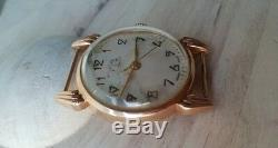 Rare MOSKVA Moscow 1957 Vintage 583 solid Gold Russian Watch USSR