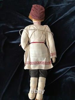 Rare Stockinette MALE Doll 1920 1940s Russian/Soviet Union