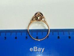 Rare Vintage Ring ROYAL ALEXANDRITE Gold 583 14K USSR Star Stamp Russian Soviet