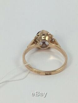 Rare Vintage Unique USSR Russian Soviet Gold Ring Alexandrite 583 14K Size 9.5