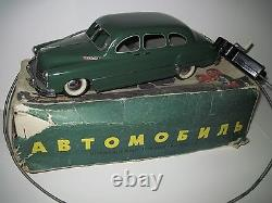 Rare! Vintage Zim Russian Ussr Tin Toy Car Mechanical Remote Controller
