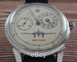 Regulateur MOLNIYA Aviation Force Vintage Soviet Russian USSR watch military
