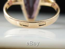 Russian Alexandrite Ring 14K Rose Gold USSR Soviet Union Fine Jewelry Size 5.75