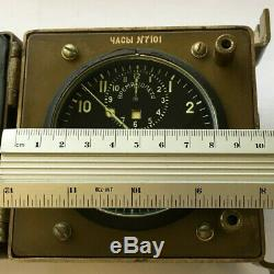 Russian Military Cockpit ACHS-1 Clock Chronograph Aircraft Air Force USSR Retro