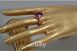 Russian Ruby Rinh Rose Gold 14K USSR Silver Soviet Jewelry Huge Ruby Ring Gift