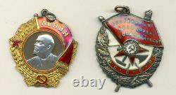 Russian Soviet Documented group with Order of Lenin and Red Banner