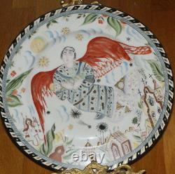 Russian Soviet Propaganda Porcelain Plate Design by Shchekhotikhina Pototskaya