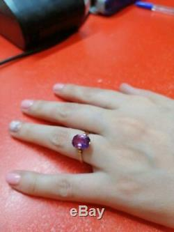 Russian Soviet Ring Star Stamped Vintage USSR Jewelry Gold 14K 583 Alexandrite