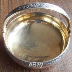 Russian Soviet Silver 875 Sugar Bowl Tallinn Jewelry Factory 1960s