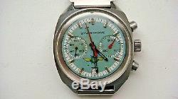 Russian USSR Aviator Pilot Sturmanskie 23j Poljot 2 Register Chronograph Watch
