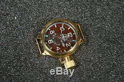 Russian USSR Divers Watch Zlatoust Submarin and Anchor #2 VMF CCCP Gold Case