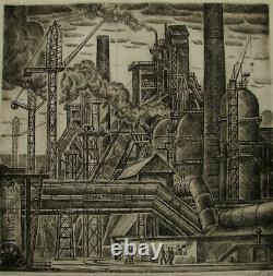 Russian Ukrainian Soviet Industrial Engraving plant worker