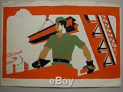 Russian Ukrainian Soviet LOT 10 Paintings Socialist realism propaganda poster