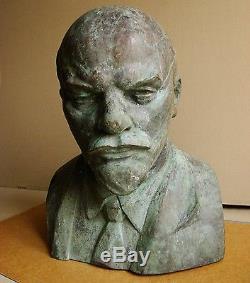 Russian Ukrainian Soviet author's bust BRONZE sculpture LENIN XXXXL monumental