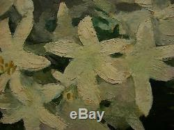 Russian Ukrainian Soviet oil painting impressionism Still Life flowers jonquil