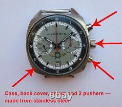 Shturmanskie Vintage USSR Russian Soviet watch Poljot Chronograph 3133 75534