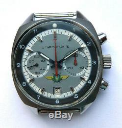 Shturmanskie Vintage USSR Russian Soviet watch Poljot Chronograph 31659 92353