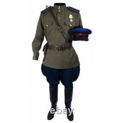 Soviet Red Army Russian military Officer's NKVD USSR uniform with Hat M43