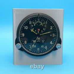 Soviet Russian MIG Clock AChS-1M Cockpit Military Aircraft Man Cave Desktop