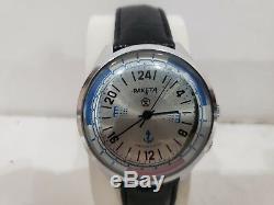 Soviet Russian Mechanical Watch Raketa 24 Hours 2623. H. Submarine