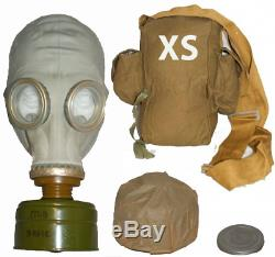 Soviet Russian Military Gas mask GP-5. Grey rubber. NEW Full set. Size 0