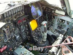 Soviet Russian Pilot Fighter Jet Aircraft Su24M Cockpit Control Column Joy stick