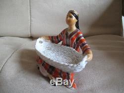 Soviet Russian Porcelain Figurine LFZ Uzbek Girl Lomonosov