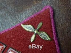 Soviet Russian Russia USSR WW2 Pilot Colonel Aviation Leather Coat Uniform