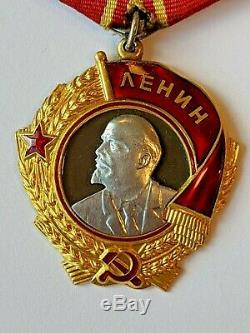 Soviet Russian USSR Order of Lenin with document