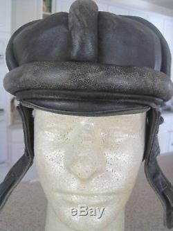 Soviet Russian WW2 M31 Leather Armor Troops Helmet