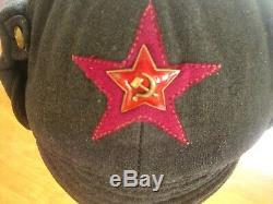 Soviet Russian WW2 Original 1938 dated Infantry Winter Hat -Budenovka