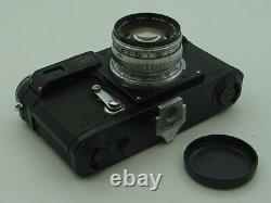 Soviet Russian copy of Contax IIa Zeiss Ikon BLACK camera with Sonnar lens Exc