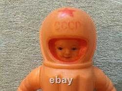Soviet Ussr CCCP Russian HUGE 33 cm`s Doll ASTRONAUT COSMONAUT Rare Toy (1961)