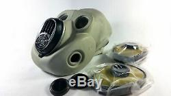Soviet russian gas mask PBF grey rubber. EO 19 gas mask + filters set