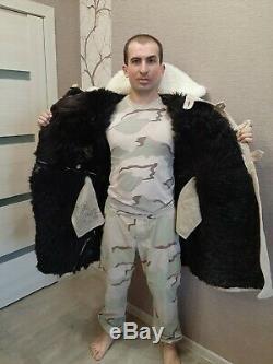 Tulup. Bekesha sheepskin coat Russian army USSR. Officer Winter. Size 52/2 (42)