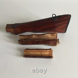 USSR Soviet Russian Wooden layout set butt+upper pad+handguard, original Vintag