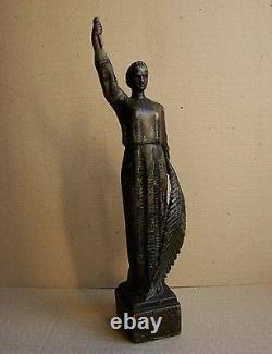 Ukrainian Russian Soviet Statue sculpture motherland socialist realism bronze