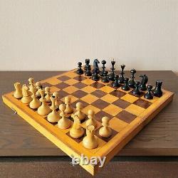 Valdai Nobles soviet chess set 60s Wooden Russian Vintage USSR antique