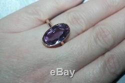 Vintage 14K 583 ROSE GOLD Russian Soviet USSR ring Alexandrite corundum
