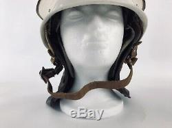 Vintage Fire Helmet USSR Soviet Russian FIGHTER FIREMAN Flip Down Visor Emblem
