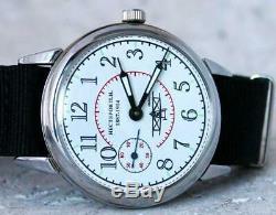 Vintage LACO Wrist Watch Russian USSR Aviator Soviet Mechanical Rare Men's Servi