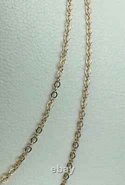 Vintage Original Soviet Rose Gold Chain 14 KT 585, Russian Gold Necklace Chain
