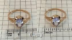 Vintage Original Soviet Russian Alexandrite Solid Rose Gold Ring 583 14K USSR