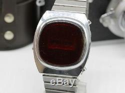 Vintage Pulsar Elektronika 1 Early Russian USSR Digital Red LED Wrist Watch