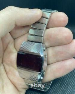 Vintage Pulsar Elektronika 1 First Russian USSR Digital Red LED Wrist Watch