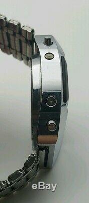 Vintage Pulsar Elektronika 1 First Russian USSR Digital Red LED Wrist Watch 4295