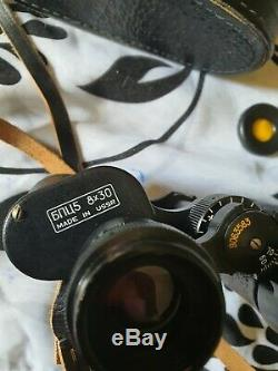 Vintage Russian Binoculars BPC5 5 8X30 Made in USSR with Case