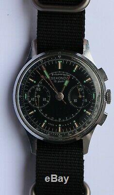 Vintage Sekonda Ussr Russian Chronograph Cal. 3017 + Nato Strap