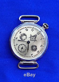Vintage Soviet CCCP USSR russian slim watch MOLNIJA Masonic symbols 909115