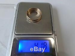 Vintage Soviet Rose Gold Ring 14K 583 Diamond Size 9.75 (19.6 mm) Russian USSR